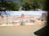 monument valley blockwall mural