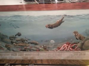 Aquarium mural