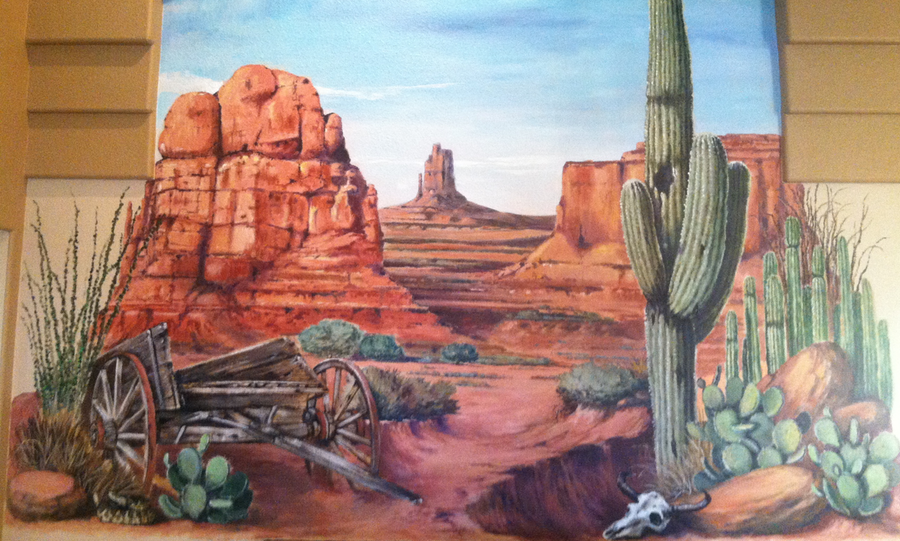 Arizona mural artist gina ribaudo i love murals for Desert wall mural